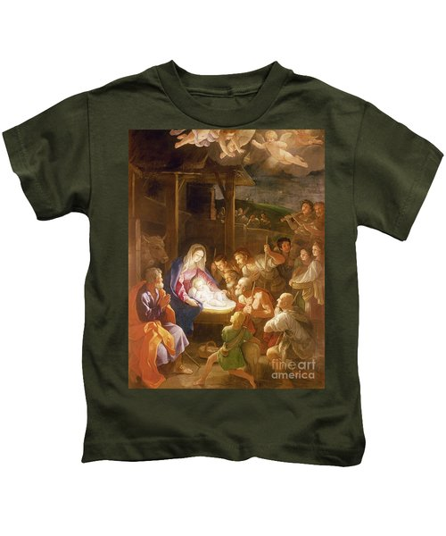 The Adoration Of The Shepherds Kids T-Shirt