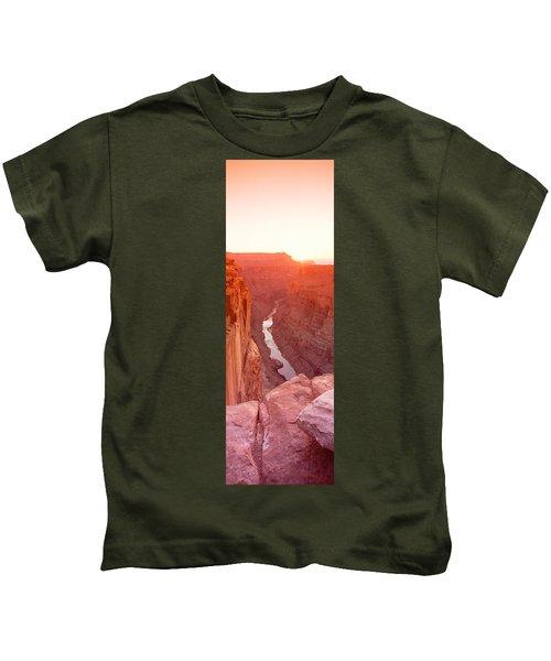 River Passing Through A Canyon Kids T-Shirt