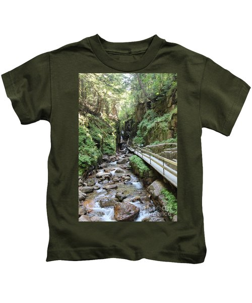 The Flume Gorge   Kids T-Shirt