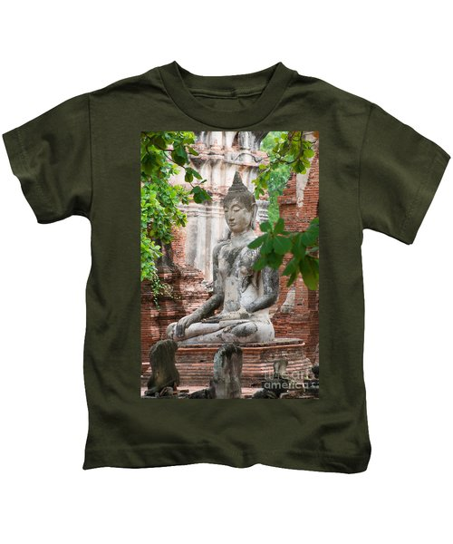 Buddha Statue Kids T-Shirt