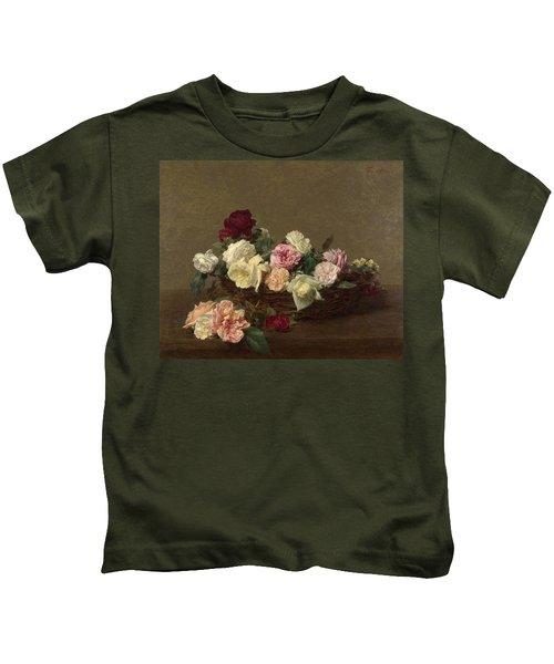A Basket Of Roses Kids T-Shirt