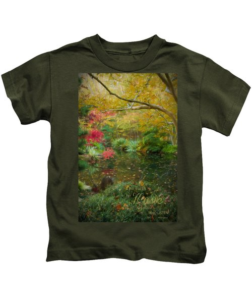A Fall Afternoon With Message Kids T-Shirt