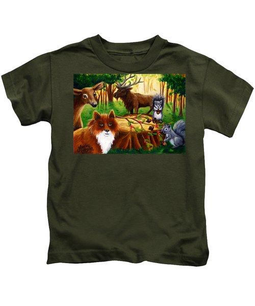 A Woodland Thanksgiving Kids T-Shirt