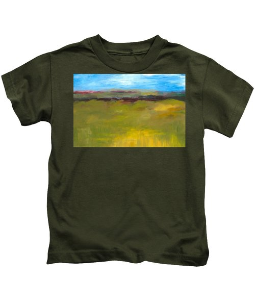 Abstract Landscape - The Highway Series Kids T-Shirt