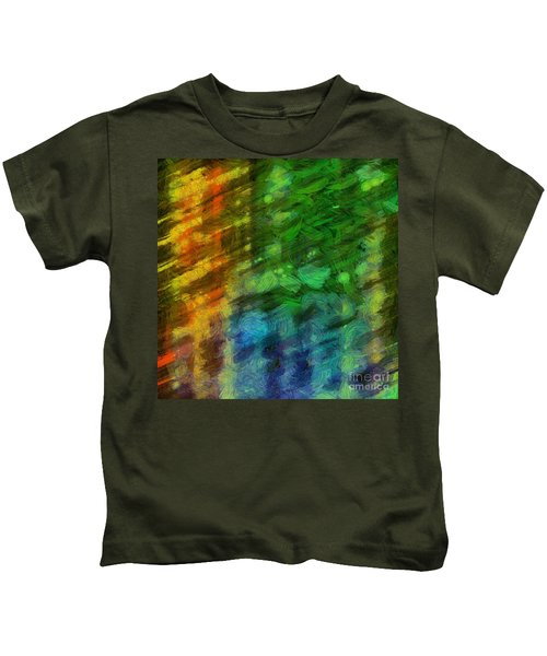 Abstract Lines 10 Kids T-Shirt