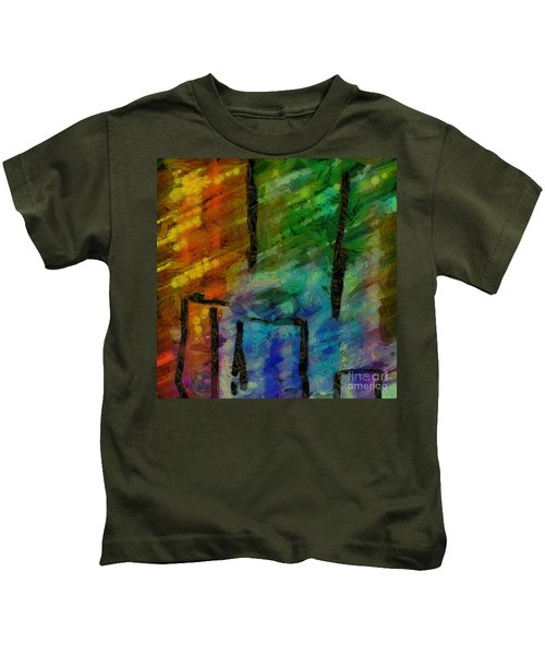 Abstract Lines 11 Kids T-Shirt