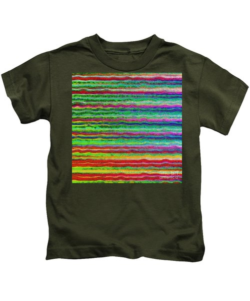 Abstract Lines 7 Kids T-Shirt