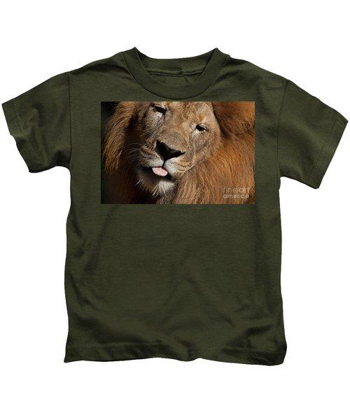 African Lion Kids T-Shirt