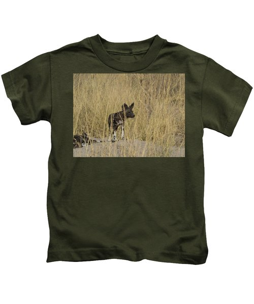 African Wild Dog Lycaon Pictus Puppy Kids T-Shirt