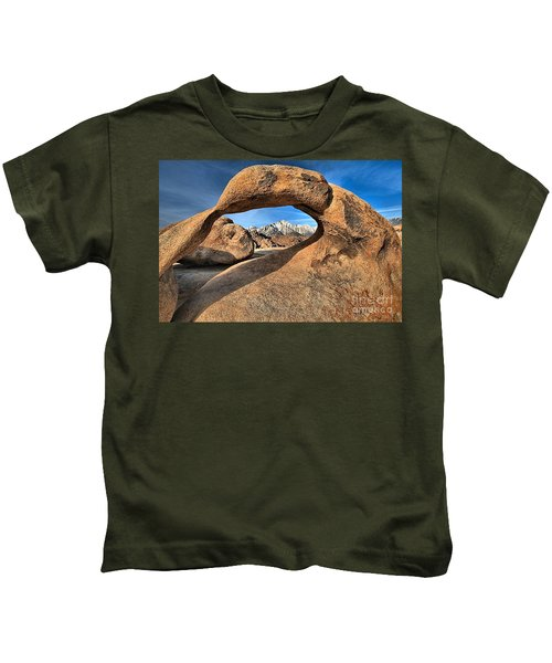 Alabama Hills Mobius Arch Kids T-Shirt