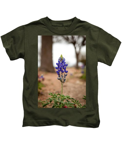 Alone In The Woods Kids T-Shirt