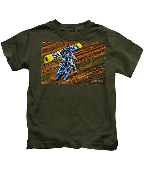 Ama 450sx Supercross Jason Anderson Kids T-Shirt