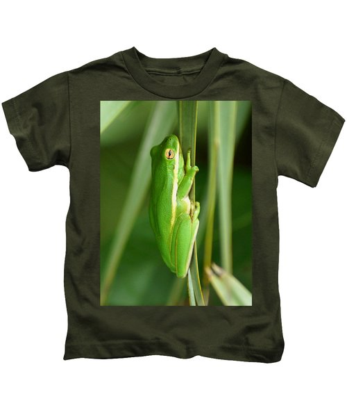 American Green Tree Frog Kids T-Shirt
