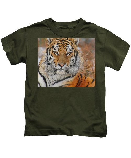 Amur Tiger Magnificence Kids T-Shirt