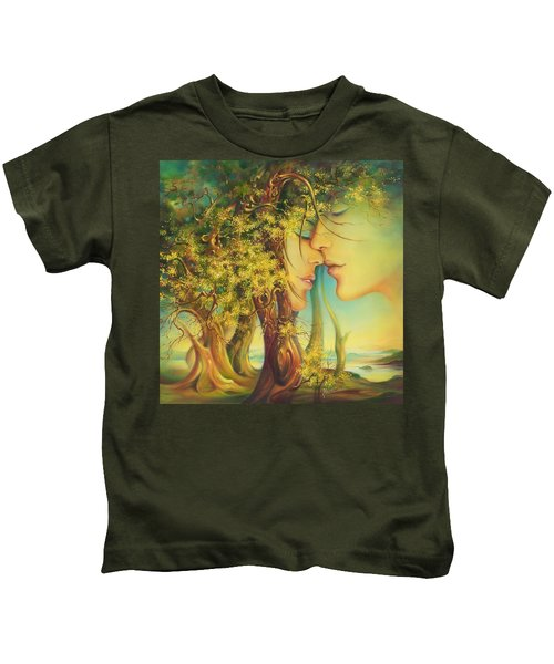 An Encounter At The Edge Of The Forest Kids T-Shirt