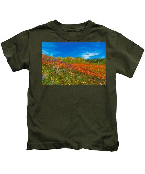 An Ocean Of Orange  Kids T-Shirt