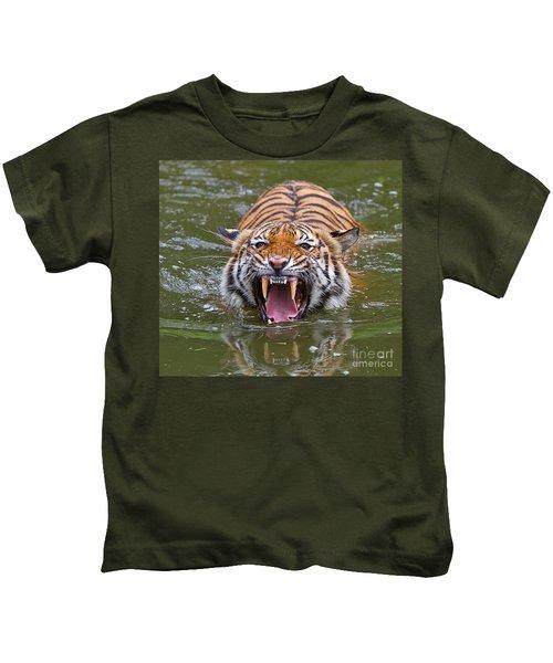 Angry Tiger Kids T-Shirt