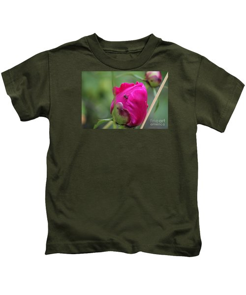 Ant On Peony Kids T-Shirt