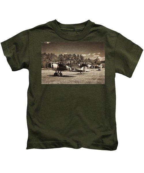 Antque 1917 Nieuport 28c.1 Fighter Plane Kids T-Shirt