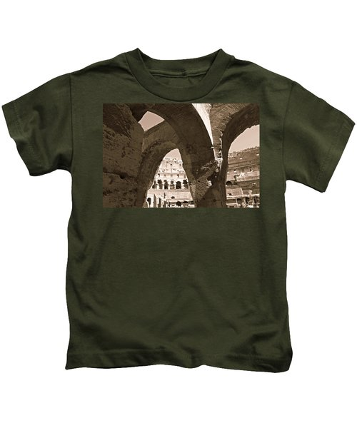 Arches In The Colosseum Kids T-Shirt