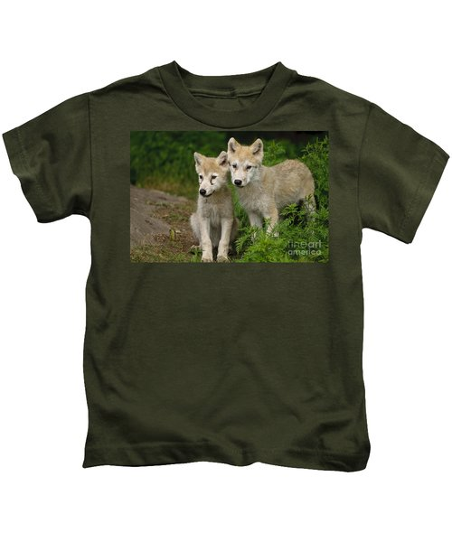 Arctic Wolf Puppies Kids T-Shirt