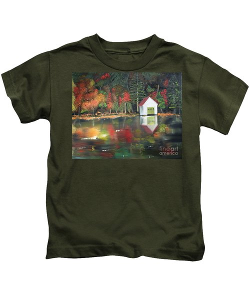 Autumn - Lake - Reflecton Kids T-Shirt