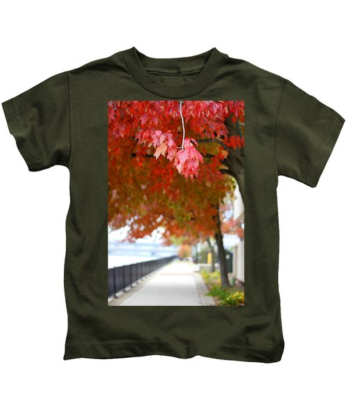 Autumn Sidewalk Kids T-Shirt