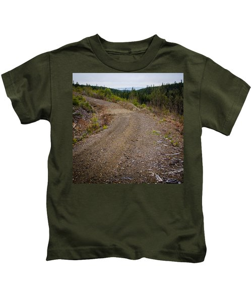 4x4 Logging Road To Adventure Kids T-Shirt