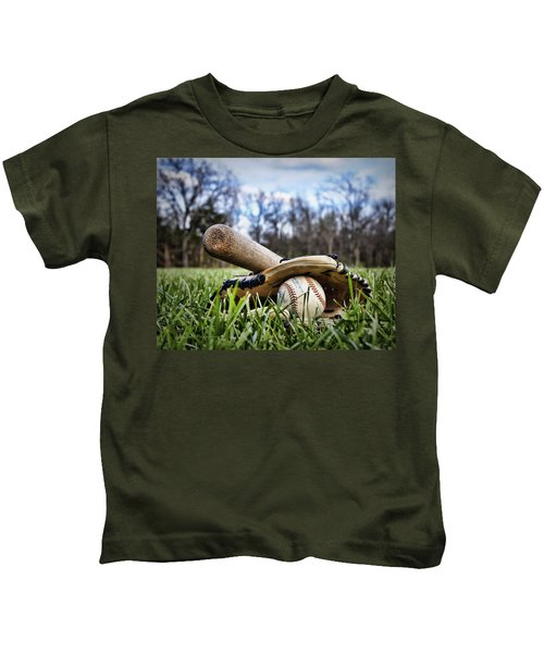 Backyard Baseball Memories Kids T-Shirt