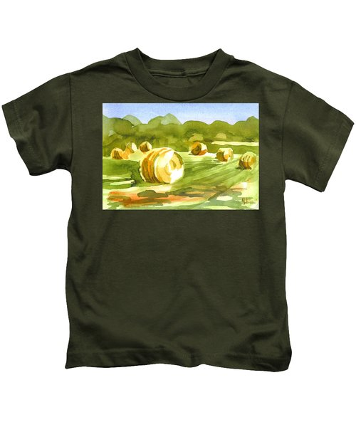 Bales In The Morning Sun Kids T-Shirt