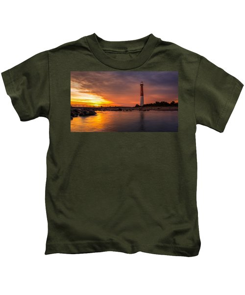 Barnegat Sunset Light Kids T-Shirt