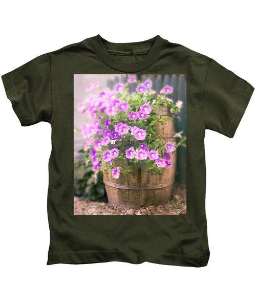 Barrel Of Flowers - Floral Arrangements Kids T-Shirt