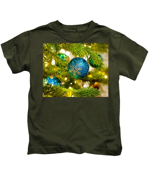Bauble In A Christmas Tree  Kids T-Shirt