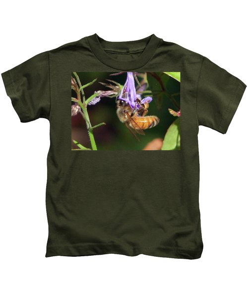 Bee With Flower Kids T-Shirt