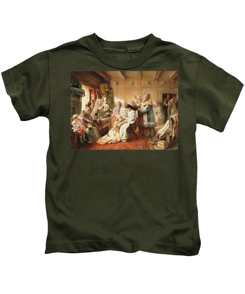 Before The Wedding, 1890 Oil On Canvas Kids T-Shirt