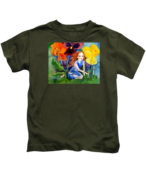 Tiny Flower Fairy Kids T-Shirt