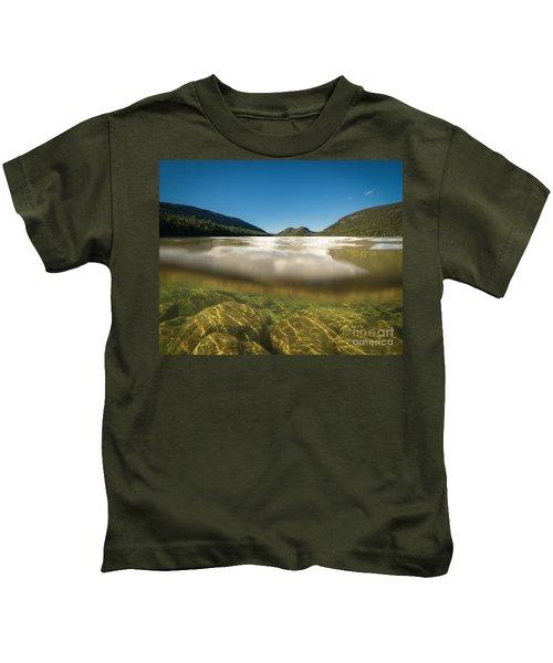 Below The Surface Of Jordan Pond Kids T-Shirt