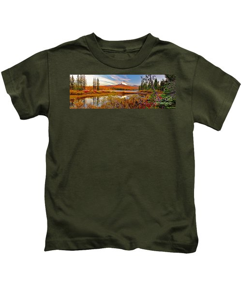 Big Lake And Mt Washington Oregon Kids T-Shirt