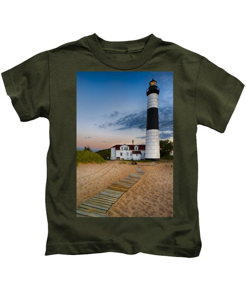 Big Sable Point Lighthouse Kids T-Shirt