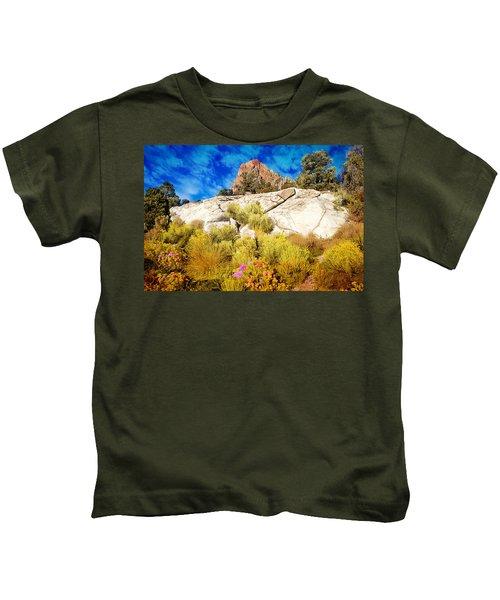 Blooming Nevada Desert Near Ely Kids T-Shirt