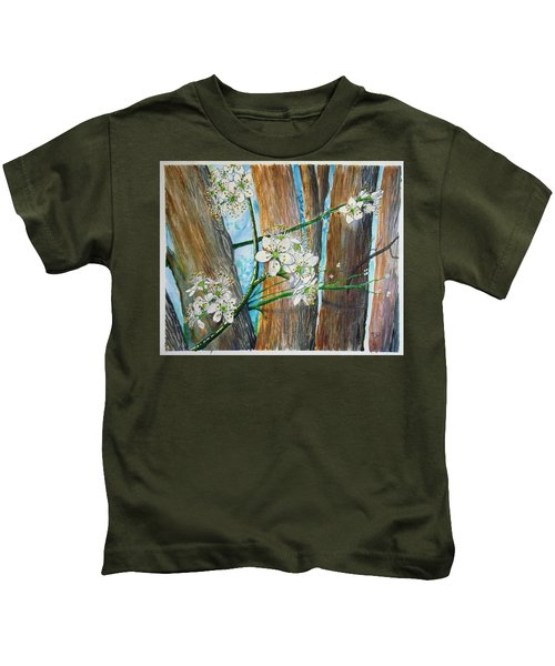 Blooms Of The Cleaveland Pear Kids T-Shirt