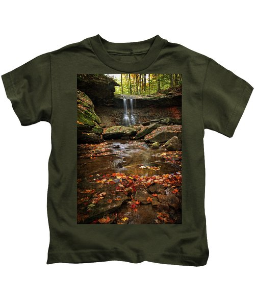 Blue Hen Falls In Autumn Kids T-Shirt