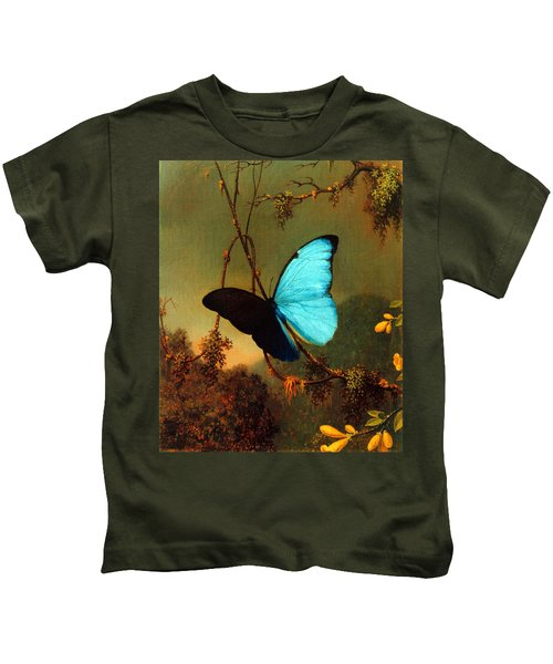 Blue Morpho Butterfly Kids T-Shirt