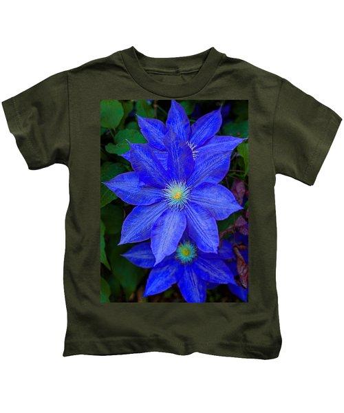 Blue On Blue Kids T-Shirt