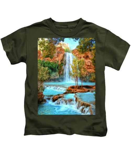 Blue Pool At Havasupai Falls Kids T-Shirt