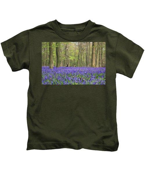 Bluebells Surrey England Uk Kids T-Shirt