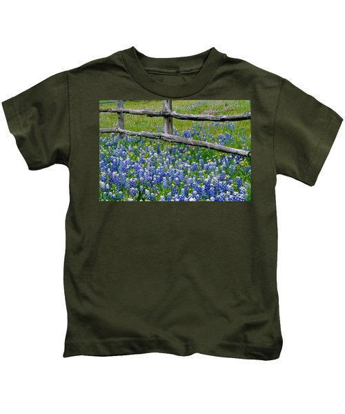 Bluebonnet Flowers Blooming Kids T-Shirt