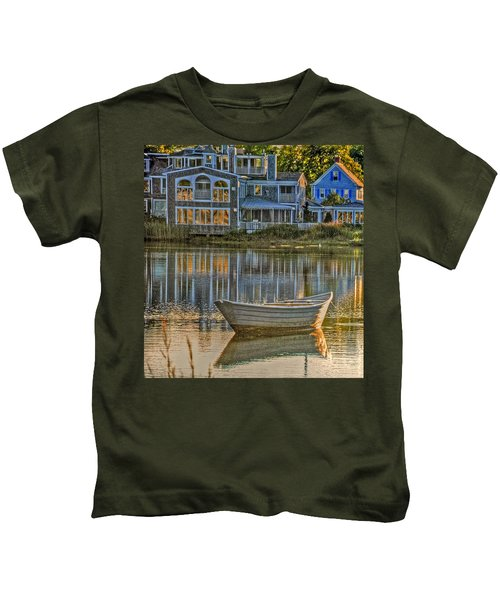 Boat In Late Afternoon Kids T-Shirt