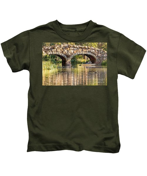 Boaters Under The Bridge Kids T-Shirt