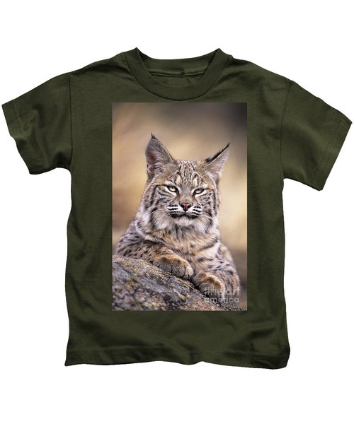 Bobcat Cub Portrait Montana Wildlife Kids T-Shirt